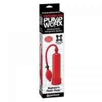 PW BEGINNERS POWER PUMP RED  Мощная вакуумная помпа красного цвета.