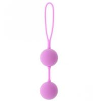 dd20832 Шарики вагинальные, фиолетовые, силикон   АБС пластик