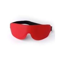 3081-2 Маска на глаза кожанная литая красная