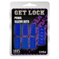 NC-0391 Penis Sleeve Kits-blue. Набор насадок синего о цвета включает в себя 7 разнообразных открытых насадок