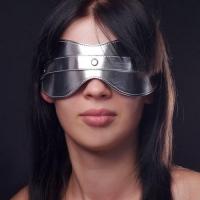 Маска на глаза литая серебристая 5015-6