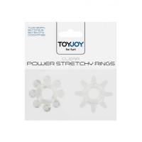 Набор колец эрекционных Power Stretchy Rings Clear 2pcs