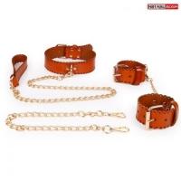 КОМПЛЕКТ Notabu (наручники, ошейник с поводком) арт. MLF-90495