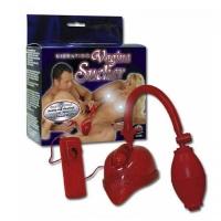 Помпа вагинальная с грушей Vagina Sucker, красная