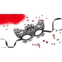 Маска ажурная ЭЛИЗАБЕТ цвет чёрный, текстиль арт. EE-20351