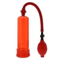 dd20075 Помпа для пениса красная, вакуумная, АБС пластик, 19cm * 5cm