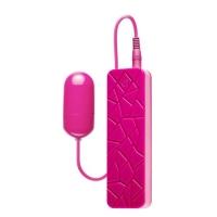 t111885 Виброяйцо с пультом управления на проводе, розовое, 10 режимов, АБС пластик, 5cm * 2cm