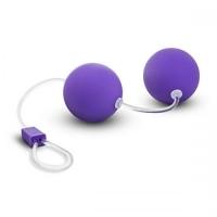 t330760 Шарики вагинальные, фиолетовые, АБС пластик, 3cm